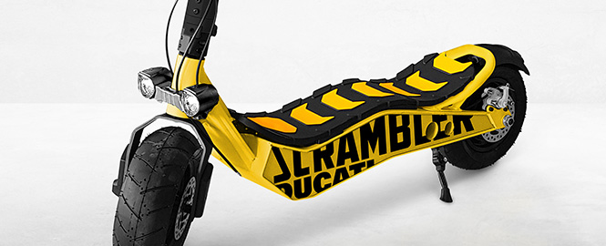 La trottinette Ducati Scrambler CROSS-E